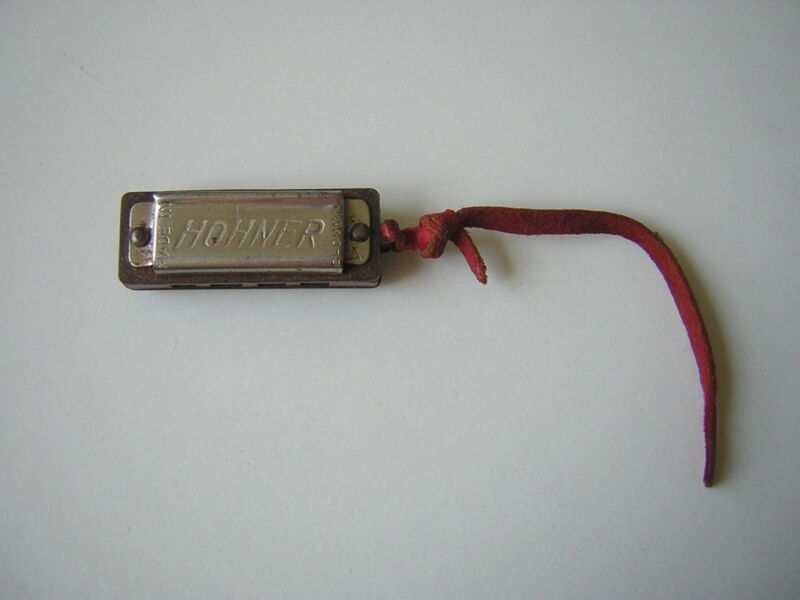Old Hohner Miniature Harmonica Made IN Germany 1 5/16x0 1/2x0 3/8in