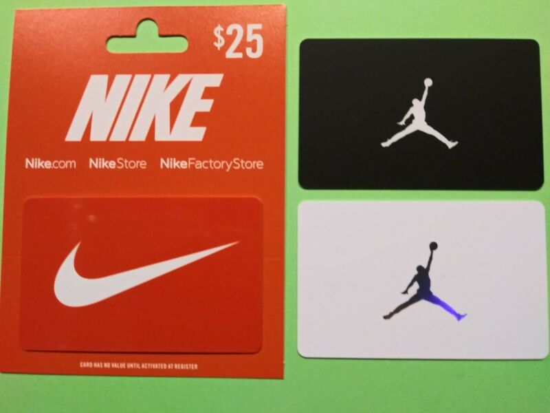 """NIKE COLLECTABLE GIFT CARDS """" JORDAN BLACK & WHITE CARDS """" NO VALUE 🏀 BRAND NEW"""