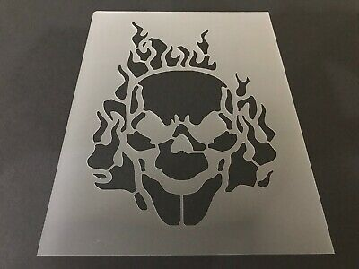 Halloween Airbrush (Skull #20 Stencil 10mm or 7mm Thick, Crafts, Skulls, Tattoo, Airbrush,)