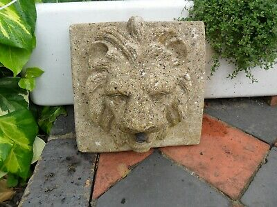 Vintage Lions Head Garden Water Feature / Plaque