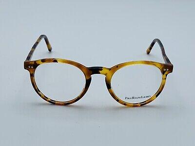RALPH LAUREN POLO PH2083 5031 48 mm Eyeglasses Round Trendy Frames Havana