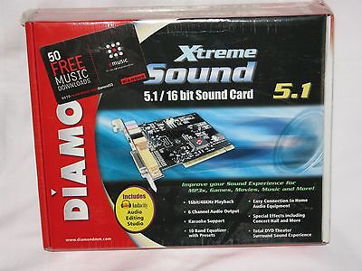 DIAMOND MULTIMEDIA XTREME SOUND 5.1 16-BIT PCI 2.2 SOUND CARD BRAND NEW SEALED