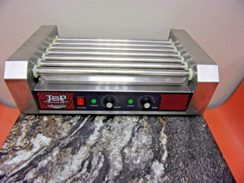 Big Dawg Commercial Electric 18 Hot Dog 7 Roller Grill Cooker Machine 1000 Watts