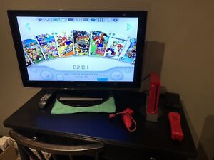 Nintendo Wii - Special Red Edition - 44 Games on USB hard drive!