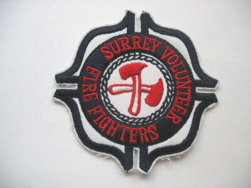 SURREY VOLUNTEER FIRE FIGHTERS PATCH - BRITISH COLUMBIA