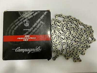 Campagnolo Record Chain 11 Speed 114 Links Silver Hollow Pins Ni-PTFE Treatment