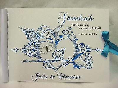 Gästebuch Hochzeit  Din A5, in verschiedenen Farben! Einladungskarten, Engel