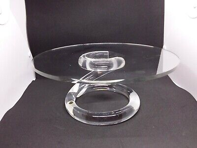 Rialto Brooklyn NY Clear Acrylic Cake Stand w/ Twisted Base - Unique