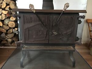 Poêle à bois combustion lente - Drolet, modèle le Cuisinier II