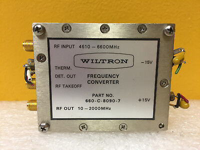 Wiltron 660-c-8090-7 4610 To 6600 Mhz 10 To 2000 Mhz Sma F Frequency Converter
