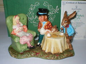 BESWICK MAD HATTERS TEA PARTY FIGURINE ALICE IN WONDERLAND FIGURE ROYAL DOULTON