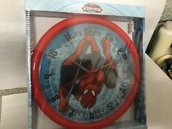 MARVEL SPIDERMAN 10 Wall Clock Red Frame New in Box
