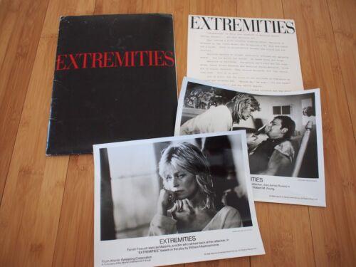 EXTREMITIES 1986 Movie Press Kit Farrah Fawcett James Russo Folder Photos & more