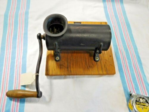 """Antique Cast Iron Tobacco Shredder 2"""" opening at the top 10 1/2"""" long   ~ #2754"""