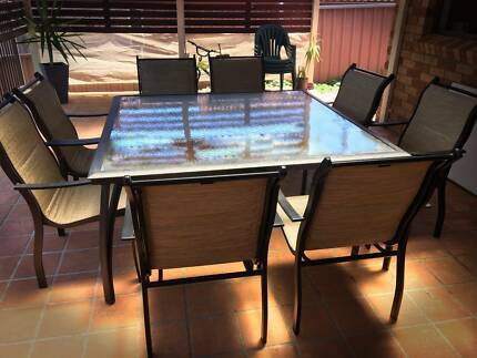 8 Seater Outdoor Table + 8 Chairs