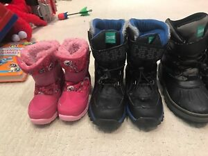 Boys and Girls Winter Boots - Variety of Sizes