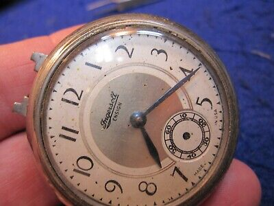 Ingersoll Ensign dollar watch pocket watch with weird patented time zone back