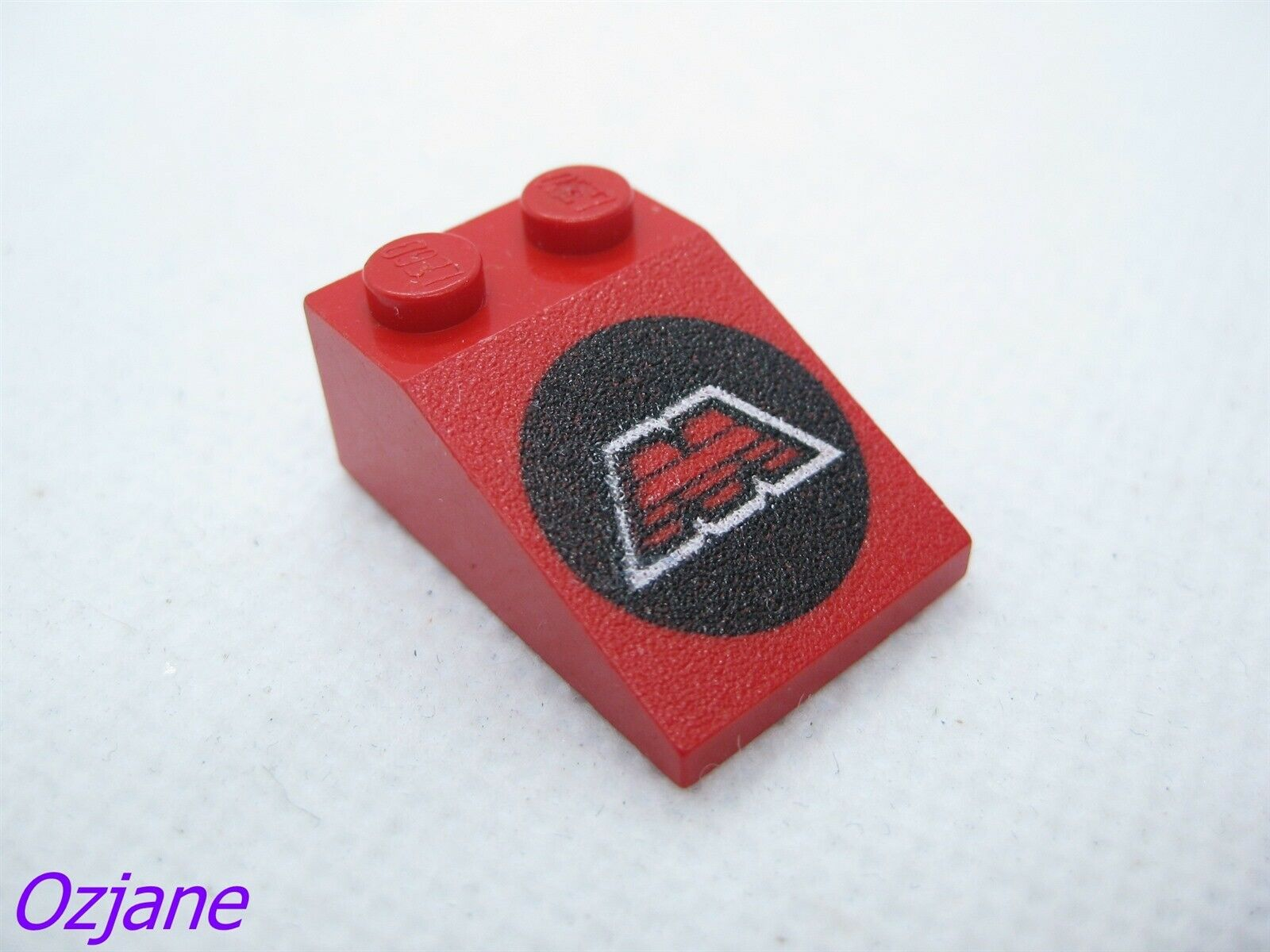 LEGO PART 3298P21 SLOPE 33 BLUE 3 X 2 WITH RED STARS X2 PIECES