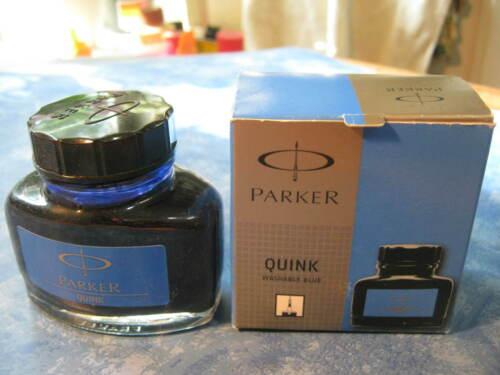 PARKER QUINK BOTTLE OF WASHABLE BLUE INK NIB