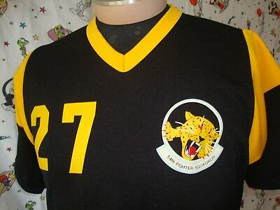 VTG United States Air Force (USAF) 54th Fighter Squadron Baseball Jersey Shirt L