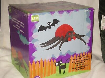 Gemmy Over 8' Lighted Haunted Halloween Spider Airblown Inflatable Blow-up