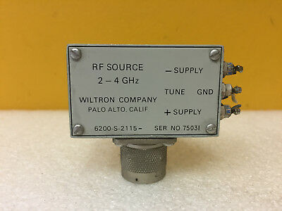 Wiltron 6200-s-2115 2 To 4 Ghz Type N M Rf Source. Tested