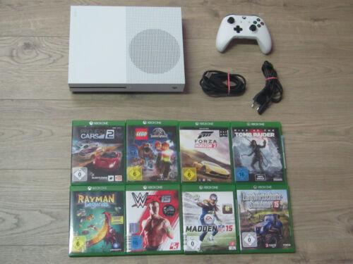 Microsoft XBOX ONE S Konsole 500GB Weiss + Controller + Gratis Spiel