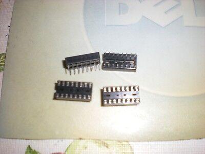 16-pin Dip Ic Sockets Solder Type 4pkg