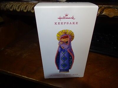 Hallmark  La Virgen Y El Nino Jesus Virgin Mary Baby Christmas Ornament 2018 ()