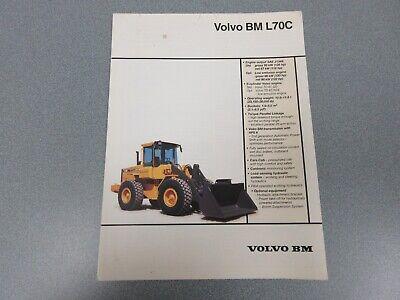 Volvo Bm L70c Wheel Loader Sales Brochure 6 Pages