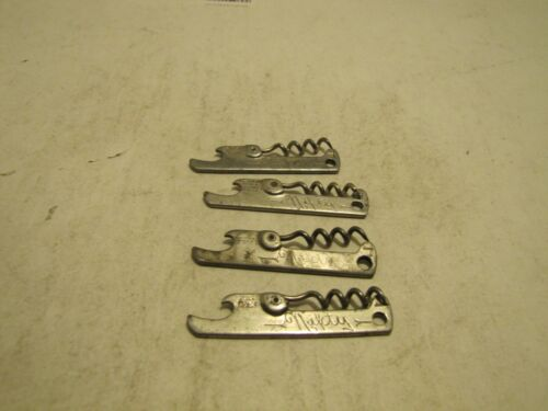 LOT OF 4 VTG NIFTY BOTTLE OPENERS/CORK SCREWS