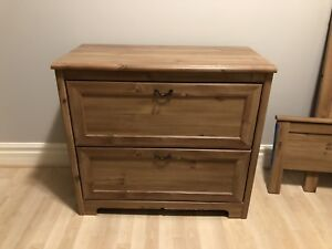 Matching dresser and double bed frame