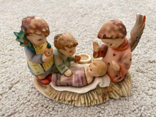 1989 HUMMEL - SILENT NIGHT FIGURINE - BABY JESUS, (2) Children & ANGEL