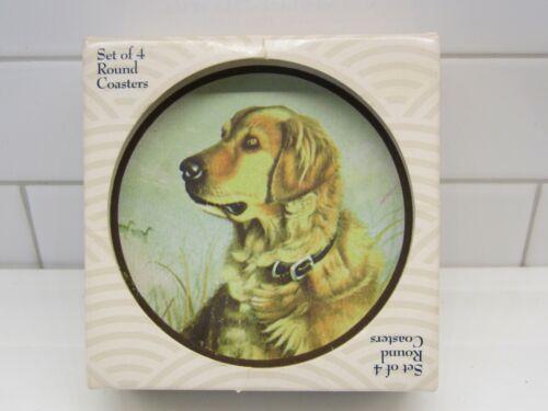 Set of 4 Original CoasterStone Absorbent Stone Coasters-Golden Retriever Dog