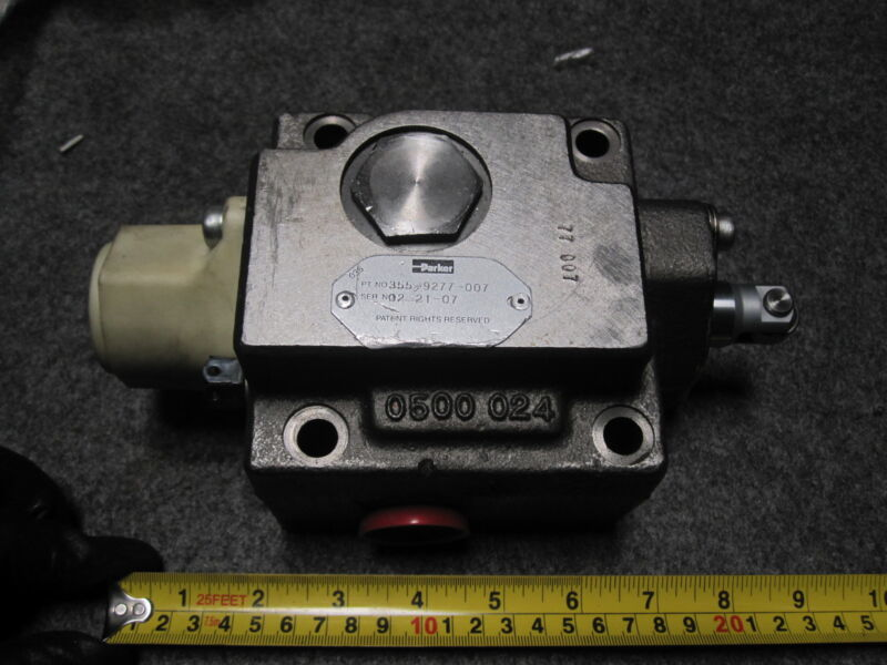 PARKER 355-9277-007 COMMERCIAL HYDRAULIC VALVE 3559277007