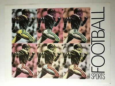 "Rare, Pop Art Style: ""Sports Football"" Print from 1989"