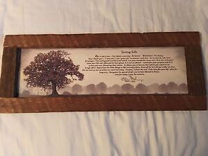 Wooden Framed Quote Sarnia Sarnia Area image 1