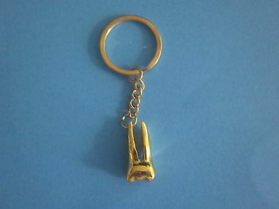 One Dental Keychain For Dentist Team Gift Tooth Molar Color Gold