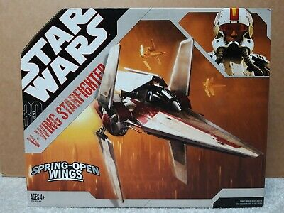 Star Wars 30th Anniversary V-Wing Starfighter vehicle sealed Hasbro 2006