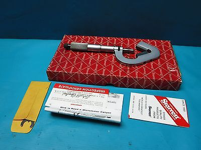 Used Starrett 1-2 V Anvil Micrometer
