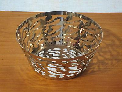 ALESSI *NEW* Corbeille inox brillant 20cm H.9cm SG28 Ethno Giovannoni