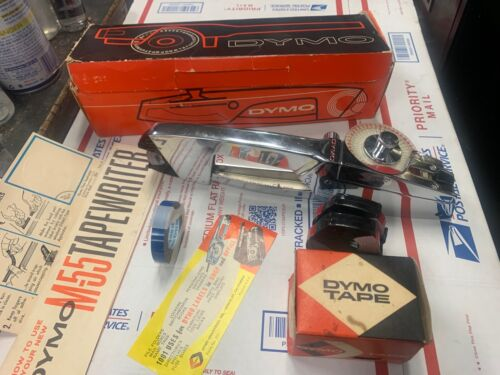 Vintage DYMO  M-55 Hand Embosser with original box working condition