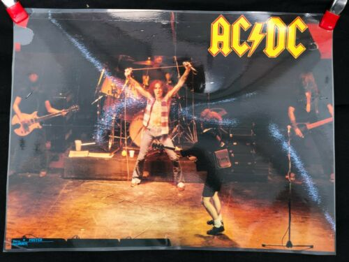 Vintage AC/DC with Bon Scott Metal Hammer Double Sided Poster Laminated See Pics