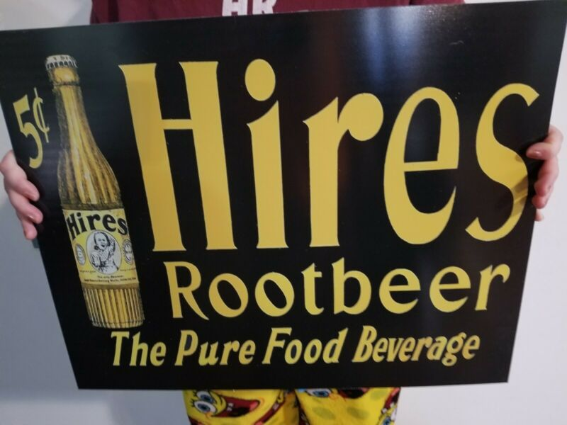Vintage style Hires Root Beer Sign 20""