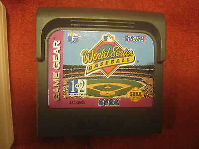 World Series Baseball (Sega Game Gear, 1993) Cartridge Only!