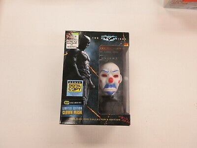 2008 DC COMICS BATMAN DARK KNIGHT 2-DISC DVD & CLOWN MASK BEST BUY EXCLUSIVE NIB