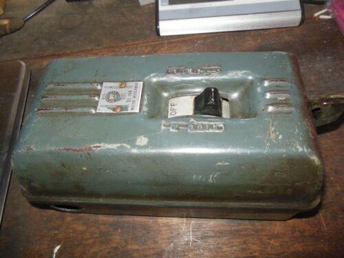 VINTAGE WESTINGHOUSE SIZE 0 MANUAL MOTOR STARTER / no heaters installed