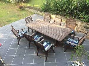 High quality outdoor setting, large table with eight chairs Ashgrove Brisbane North West Preview