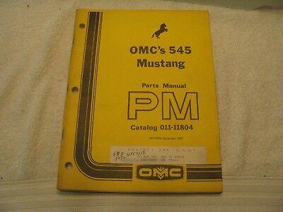 Mustang Omc 545 Skid Steer Loader Parts Manual Catalog 011-11804 Nc