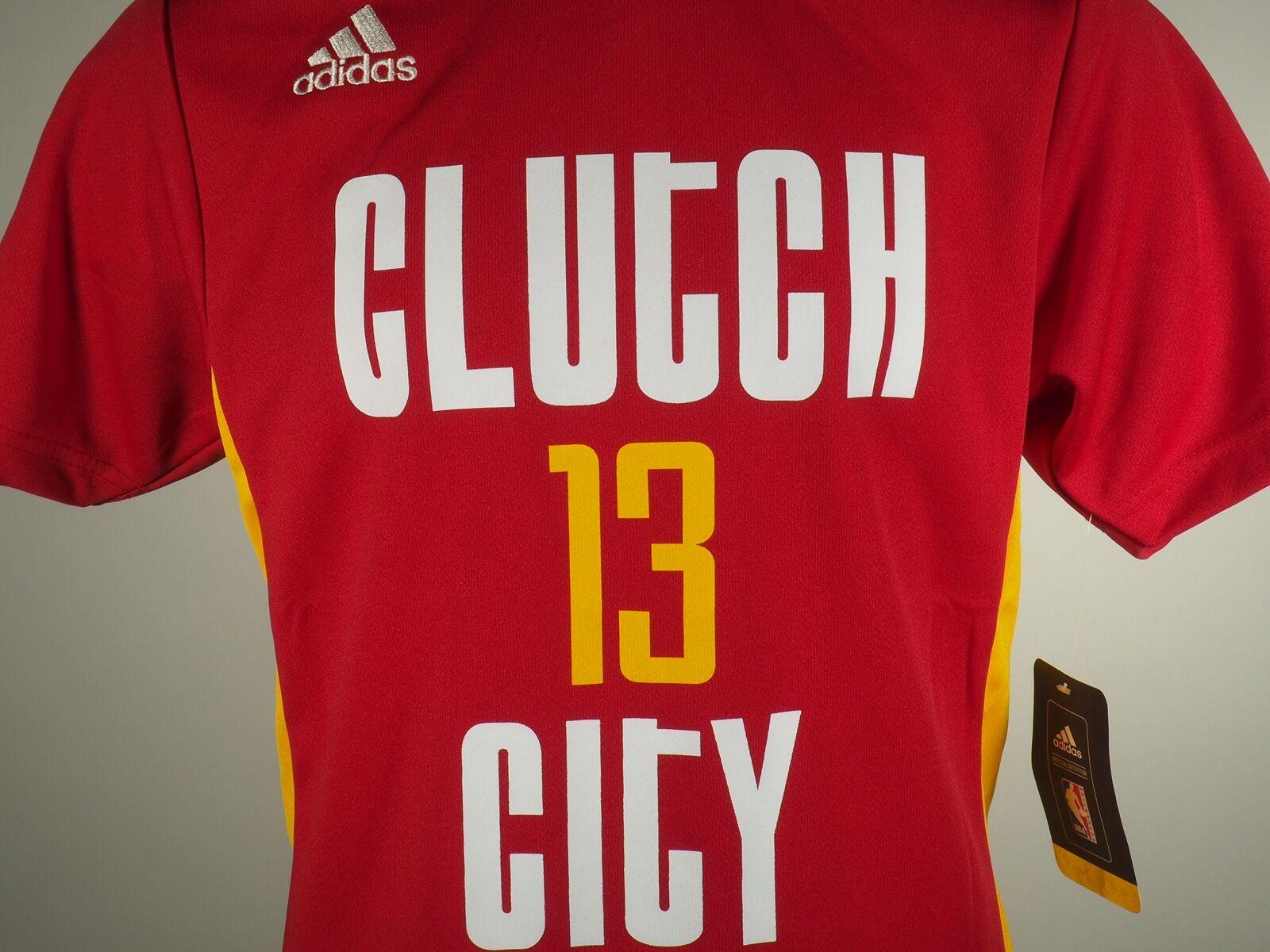 a8baf87e72b Adidas Houston Rockets Youth Size James Harden Clutch City Alternate Jersey  New
